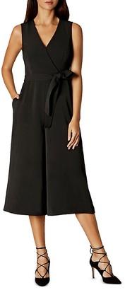 KAREN MILLEN Faux-Wrap Culotte Jumpsuit $399 thestylecure.com