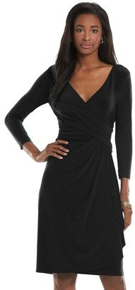Women's Chaps Surplice Faux-Wrap Sheath Dress $95 thestylecure.com