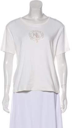 Lauren Ralph Lauren Short Sleeve Embellished T-Shirt