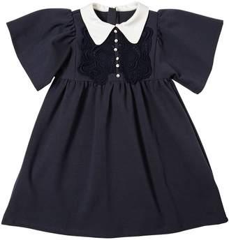 Chloé Milano Jersey Dress W/ Lace Detail
