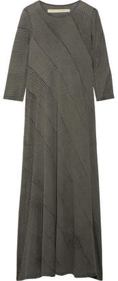 Raquel Allegra Tie-dyed Cotton-blend Jersey Maxi Dress - Anthracite