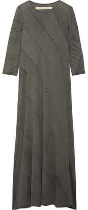 Raquel Allegra Tie-dyed Cotton-blend Jersey Maxi Dress - Anthracite