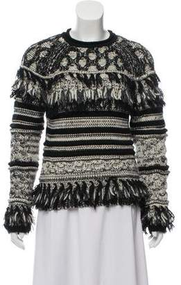 Yigal Azrouel Wool-Blend Fringe-Trimmed Sweater