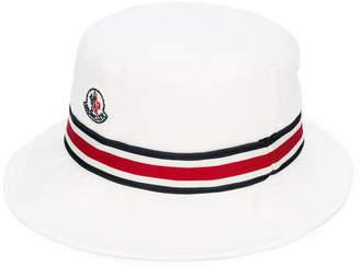 Moncler contrasting stripe sun hat