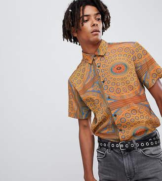 Reclaimed Vintage inspired gold baroque shirt