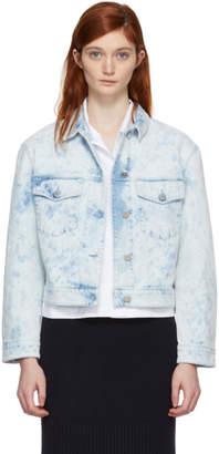 Stella McCartney Blue Splatter Denim Jacket