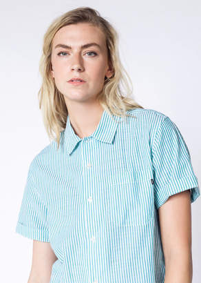 Obey Avalon Woven Button Up | Wildfang - Avalon Woven Button Up - BLUE - LARGE