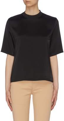 Nanushka 'Kaden' satin mock neck T-shirt
