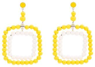 Marni Resin beaded rectangle earrings