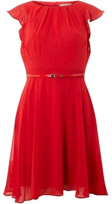 Dorothy Perkins Womens **Billie & Blossom Petite Red Angel Sleeve Dress