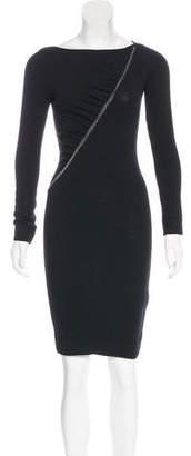 Blumarine Chain-Accented Wool Dress