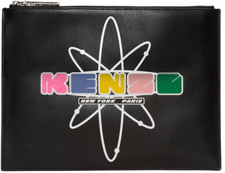 Kenzo Black Leather Cory Pouch $240 thestylecure.com