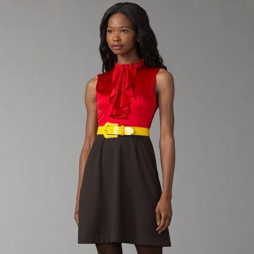 Alice + Olivia Jabot Belted Dress