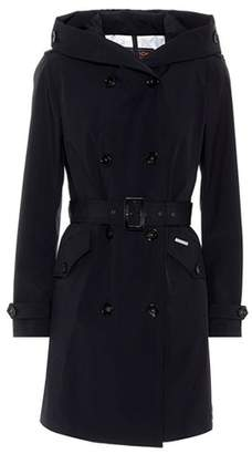 Woolrich Hooded double-breasted trench coat