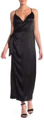 MOON & SKY Sleeveless Wrap Maxi Dress