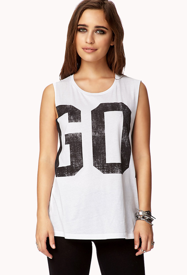 Forever 21 Sporty Muscle Tee