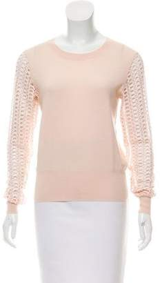 See by Chloe Guipure Lace Long Sleeve Top