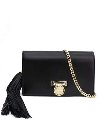 Balmain Mini Bbox Clutch In Smooth Black Leather.