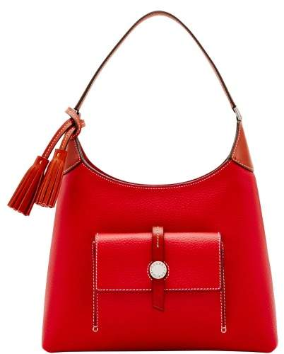 Dooney & Bourke Cambridge Small Hobo Shoulder Bag - RED - STYLE