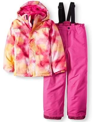 Iceburg Insulated Jacket And Snow Bib, 2-Piece Set (Little Girls)