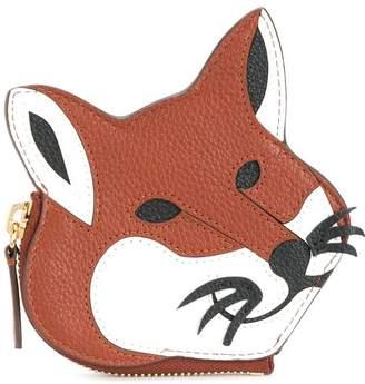 MAISON KITSUNÉ fox zip purse