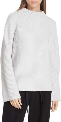 Vince Button Cuff Funnel Neck Sweater