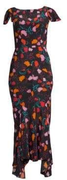 Saloni Daphne Floral Silk Maxi Dress