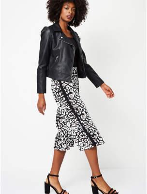 Black Leopard Print Culottes