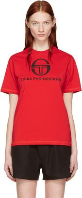 Gosha Rubchinskiy Red Sergio Tacchini Edition T-Shirt $55 thestylecure.com