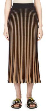 KENZO Colorblock Rib-Knit Midi Skirt