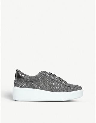 Carvela Jeorgia stud-embellished knitted trainers