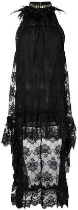Christian Pellizzari lace halterneck dress