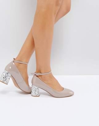 Asos Design SNOWFLAKE Jewelled Mid Heels