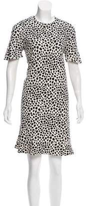 Chloé Fluted Cheetah Print Dress
