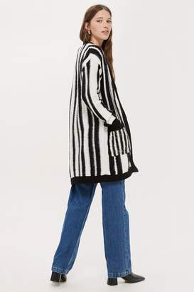 Topshop Monochrome Striped Cardigan
