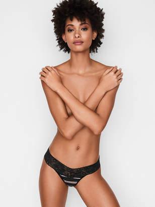 Victoria's Secret Stretch Cotton Lace-waist Thong Panty
