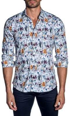 Jared Lang Floral Button-Down Shirt