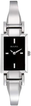 Bulova Women's Stainless Steel Bangle Bracelet Watch 18mm 96L138