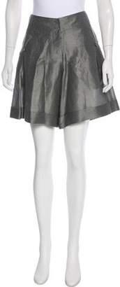 Akris Cuffed Linen Shorts