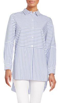 Striped Button-Front Shirt $99 thestylecure.com