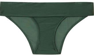 Heidi Klein Polynesia Ribbed Fold-over Bikini Briefs - Army green