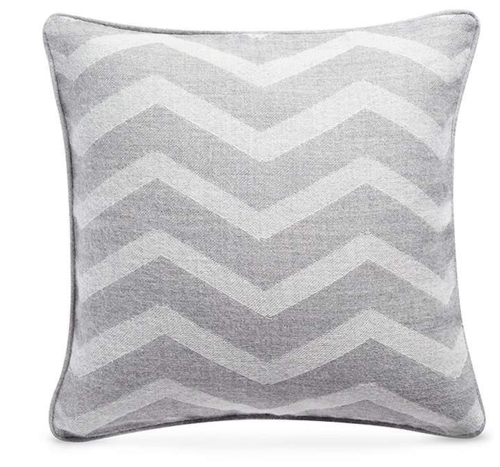 Baby alpaca cushion - Zig Zag Grey