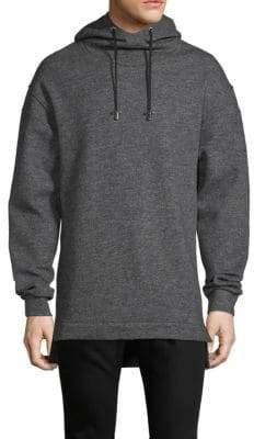 Balmain Oversized Wool Hooded Sweatshirt