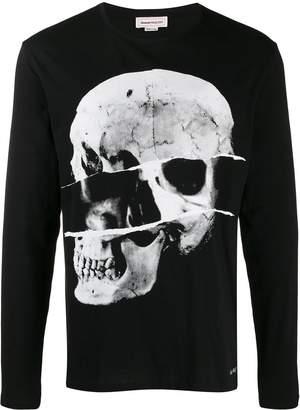 Alexander McQueen skull motif top