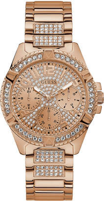 GUESS Women Lady Frontier Rose Gold-Tone Stainless Steel Bracelet Watch 40mm