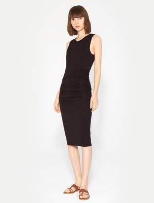 Halston Ruched Midi Dress