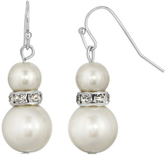 1928 Graduated Simulated Pearl Drop Earrings
