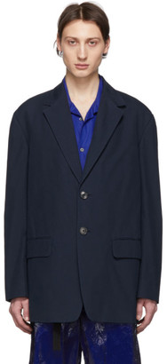 Dries Van Noten Navy Berkley Blazer