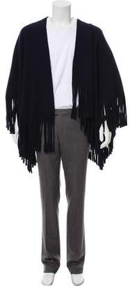Burberry Wool Fringe-Trimmed Wrap Scarf