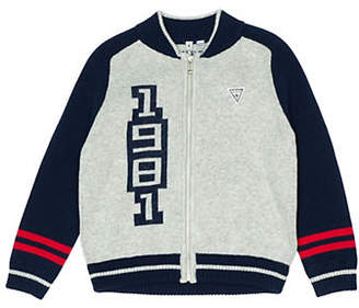 GUESS Logo Colourblock Cardi Sweater